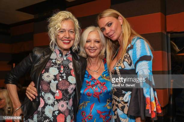 Ellen Von Unwerth Mary Greenwell and Jodie Kidd attend the Temperley London SS19 after party hosted by Alice Temperley and Amy Sacco at Bungalow...