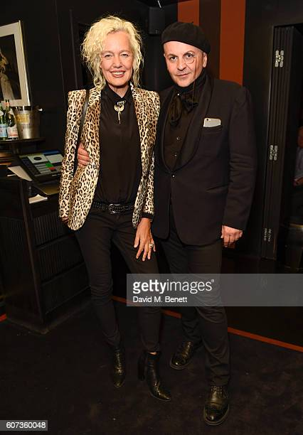Ellen Von Unwerth Sascha Lilic attend the launch of model Pat Cleveland's new book Walking With The Muses at Blakes Below on September 17 2016 in...
