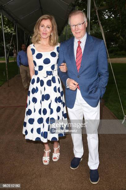 Ellen Ward Scarborough and Chuck Scarborough attend the 12th Annual Get Wild Summer Benefit on June 23 2018 in Southampton New York