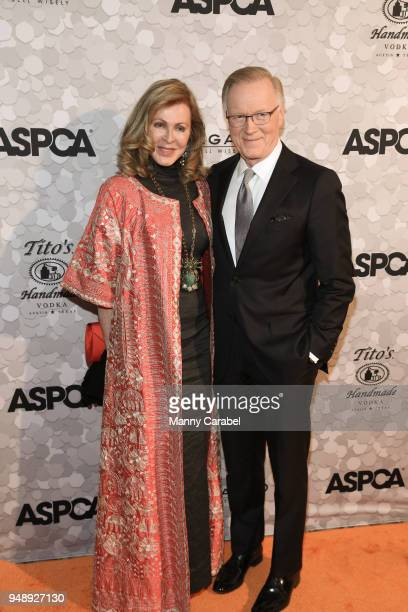 Ellen Ward Scarborough and Chuck Scarborough attend the 21st Annual Bergh Ball hosted by the ASPCA at The Plaza Hotel on April 19 2018 in New York...