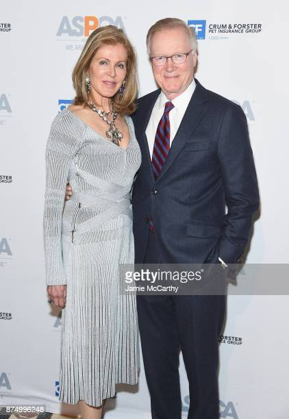 Ellen Ward Scarborough and Chuck Scarborough attend The ASPCA 2017 Humane Awards Luncheon at Cipriani 42nd Street on November 16 2017 in New York City