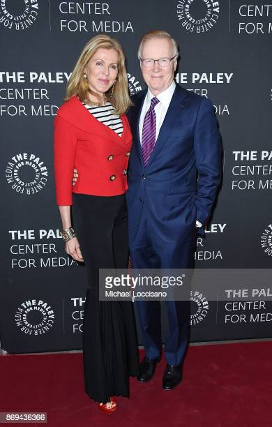 Ellen Ward Scarborough and husband journalist Chuck Scarborough attend A Paley Honors Luncheon celebrating Alec Baldwin at The Paley Center for Media...