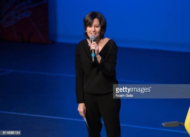 Ellen Weinstein speaks during Jacques d'Amboise's 'Art Nest Balanchine's Guys' on February 5 2018 in New York City