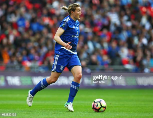 Ellen White of Birmingham City LFC during The SSE FA Women's CupFinal match betweenBirmingham City Ladies v Manchester City women at Wembley stadium...