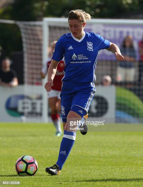 Ellen White of Birmingham City LFC during Women's Super League 1 match between Arsenal Women FC against Birmingham Ladies at Borehamwood Football...