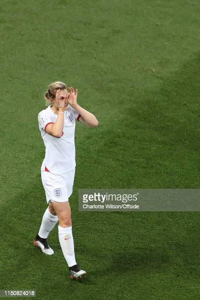 Ellen White of England celebrates after scoring their 1st goal during the 2019 FIFA Women's World Cup France group D match between Japan and England...