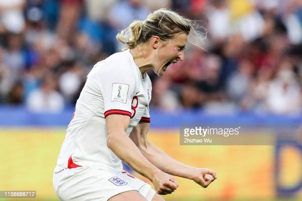 Ellen White of England celebrates the goal during the 2019 FIFA Women's World Cup France Quarter Final match between Norway and England at Stade...