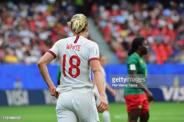 Ellen White of England during the 2019 FIFA Women's World Cup France Round Of 16 match between England and Cameroon at Stade du Hainaut on June 23,...