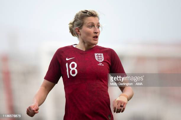 Ellen White of England during the International Friendly between England Women and Spain Women at County Ground on April 9 2019 in Swindon England