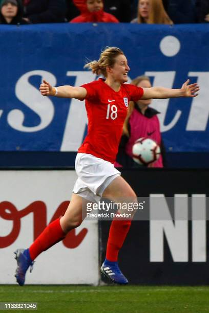 Ellen White of England plays in the 2019 SheBelieves Cup match between USA and England at Nissan Stadium on March 2 2019 in Nashville Tennessee