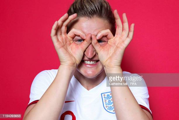 Ellen White of England poses for a portrait during the official FIFA Women's World Cup 2019 portrait session at Radisson Blu Hotel Nice on June 06...