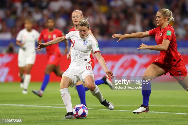 Ellen White of England scores a goal which is then disallowed for offside following a VAR review during the 2019 FIFA Women's World Cup France Semi...