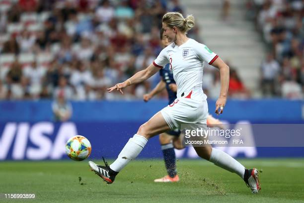 Ellen White of England scores her team's first goal during the 2019 FIFA Women's World Cup France group D match between Japan and England at Stade de...