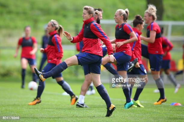 Ellen White of England Women during the England Women's Training Session on July 29 2017 in Utrecht Netherlands
