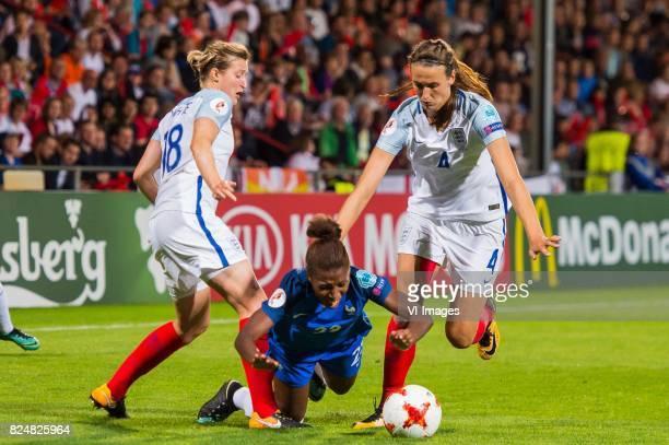 Ellen White of England women Grace Geyoro of France women Jill Scott of England women during the UEFA WEURO 2017 quarter finale match between England...