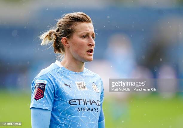 Ellen White of Manchester City during the Barclays FA Women's Super League match between Manchester City Women and Birmingham City Women at...