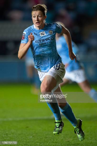 Ellen White of Manchester City in action during the UEFA Women's Champions League Round of 32 Second Leg match between Manchester City and Goteborg...