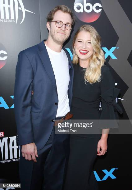 "Ellen Woglom and guest arrive at the Los Angeles premiere of ABC and Marvel's ""Inhumans"" held at Universal CityWalk on August 28, 2017 in Universal..."