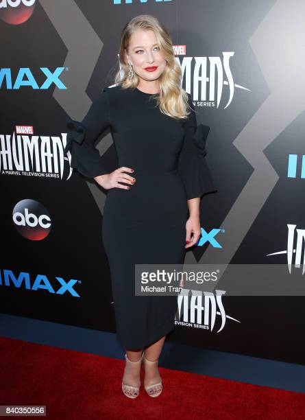 "Ellen Woglom arrives at the Los Angeles premiere of ABC and Marvel's ""Inhumans"" held at Universal CityWalk on August 28, 2017 in Universal City,..."