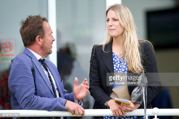 Ellen Woglom during ladies day at Goodwood Racecourse