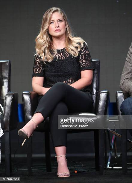 "Ellen Woglom of ""Inhumans"" speaks onstage during the Disney/ABC Television Group portion of the 2017 Summer Television Critics Association Press Tour..."