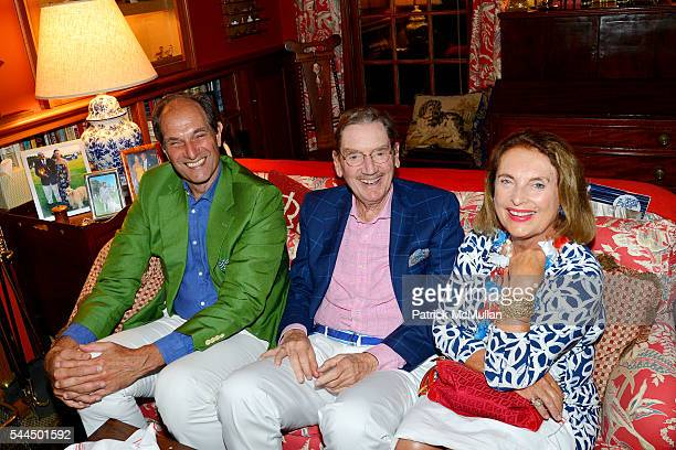 Ellery Gordon Fred Guest and Mary Lou Swift attend Sandra McConnell's Independence Day BBQ and Fireworks Viewing at Private Residence on July 1 2016...