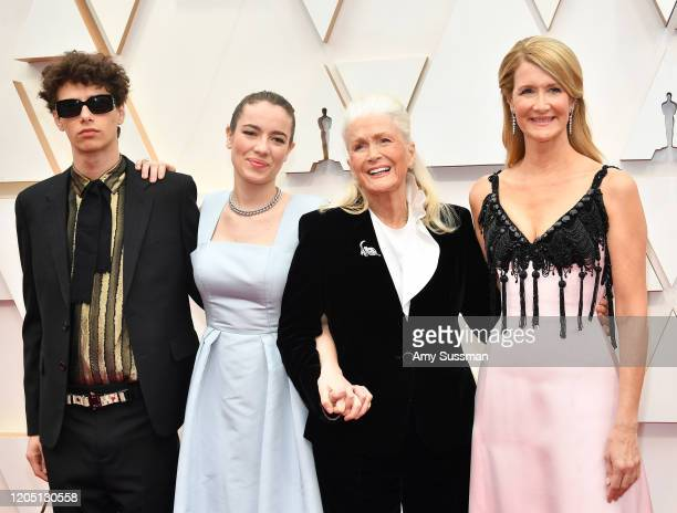 Ellery Harper, Jaya Harper, Diane Ladd, and Laura Dern attend the 92nd Annual Academy Awards at Hollywood and Highland on February 09, 2020 in...