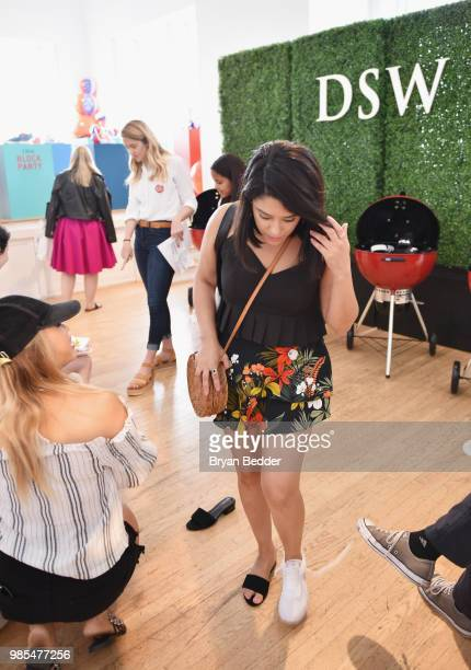 Ellery Lee and Naty Michele attend DSW Block Party hosted by Olympians Adam Rippon and Mirai Nagasu on June 27 2018 at Ramscale Studio in New York...