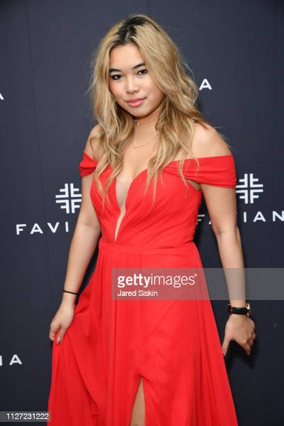 Ellery Lee attends Faviana's Annual Oscars Red Carpet Viewing Party on February 24 2019 at 75 Wall St in New York City