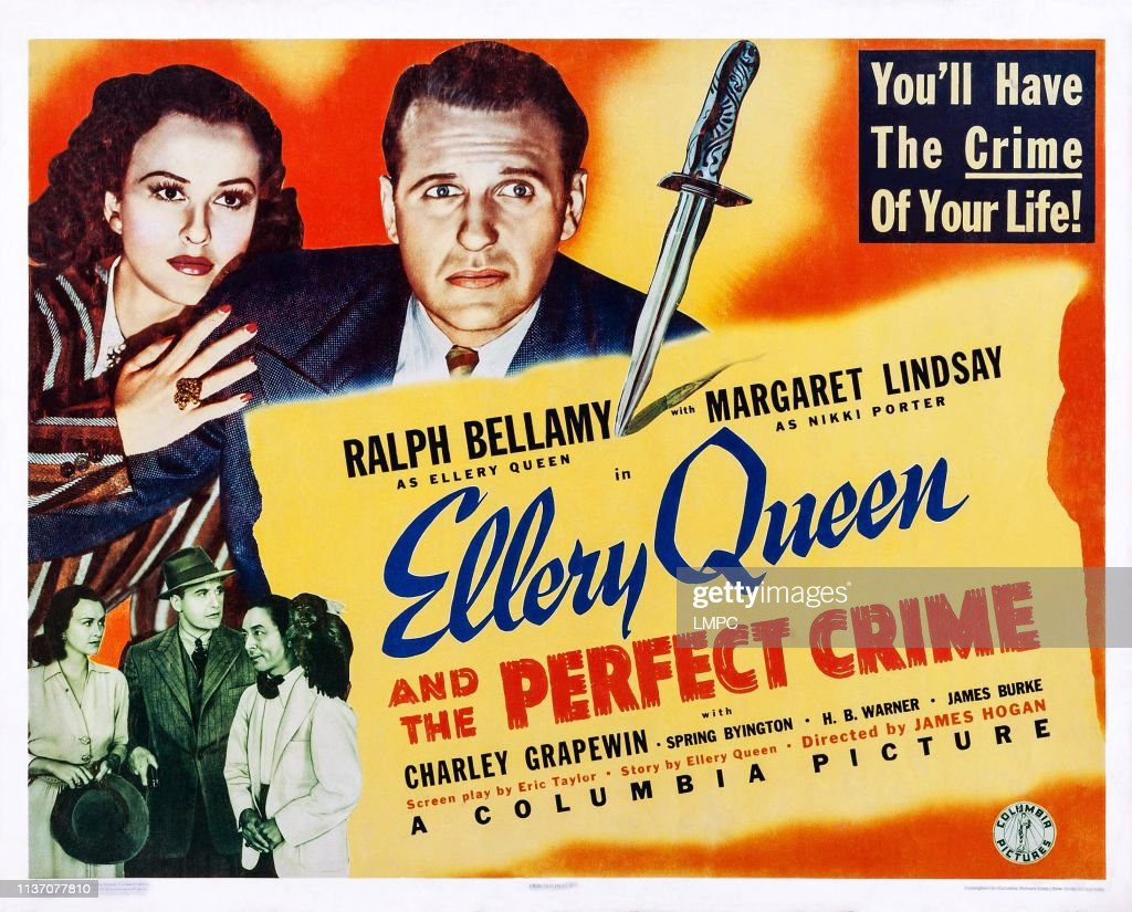 Ellery Queen And The Perfect Crime, lobbycard, US poster art