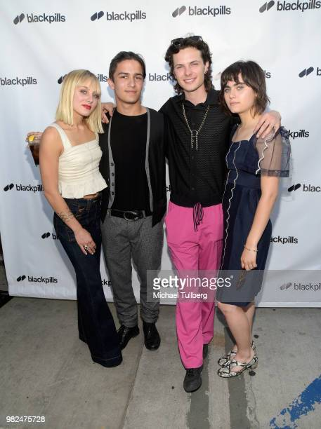 Ellery Sprayberry Aramis Knight Jance Enslin and Ally Ioannides attend the premiere of Blackpills and Barnstormer Productions' 'First Love' at...