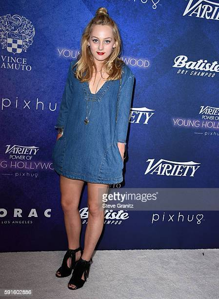 Ellery Sprayberry arrives at the Variety's Power Of Young Hollywood at NeueHouse Hollywood on August 16 2016 in Los Angeles California