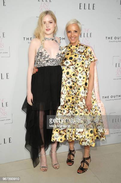 Ellie Bamber and AnneMarie Curtis attends The ELLE List 2018 at Spring at Somerset House on June 4 2018 in London England