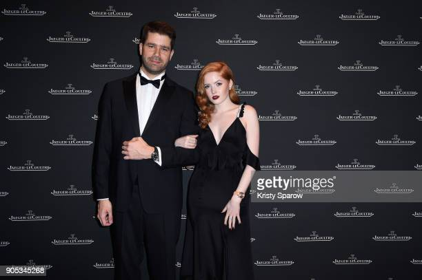 Ellie Bamber and Geoffroy Lefebvre attend JaegerLeCoultre Polaris Gala Evening at the SIHH 2018 at Pavillon Sicli on January 15 2018 in Les Acacias...