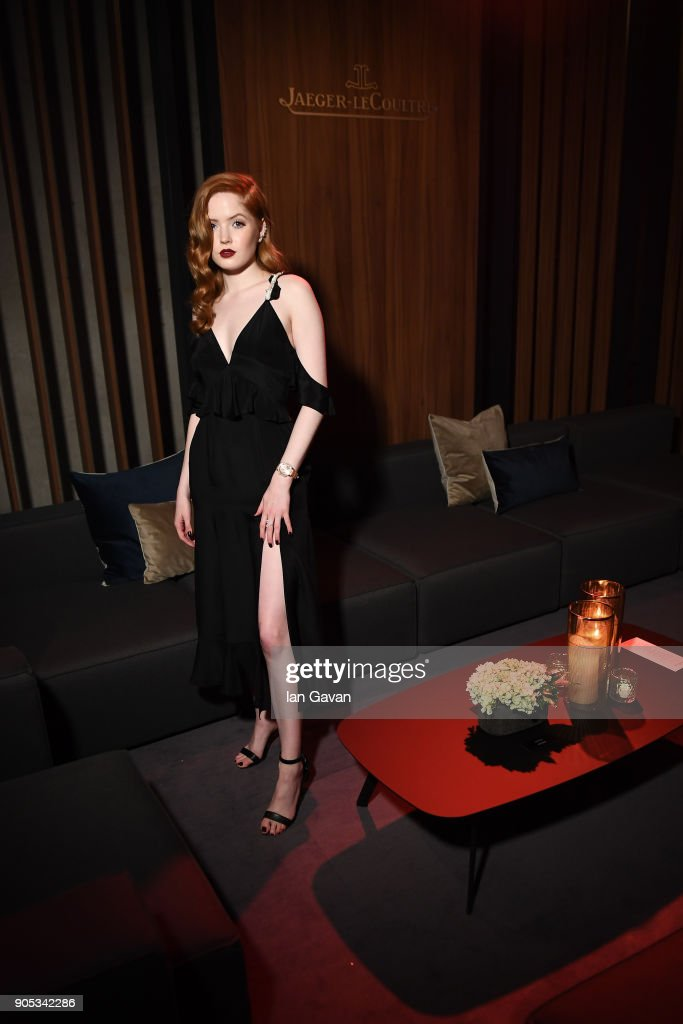 Ellie Bamber attends Jaeger-LeCoultre Polaris Gala Evening at the SIHH 2018 at Pavillon Sicli on January 15, 2018 in Les Acacias, Switzerland.