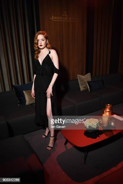 Ellie Bamber attends JaegerLeCoultre Polaris Gala Evening at the SIHH 2018 at Pavillon Sicli on January 15 2018 in Les Acacias Switzerland