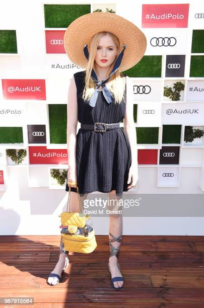 Ellie Bamber attends the Audi Polo Challenge at Coworth Park Polo Club on June 30 2018 in Ascot England