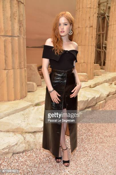 Ellie Bamber attends the 'Chanel Cruise 2017/2018 Collection' at Grand Palais on May 3 2017 in Paris France