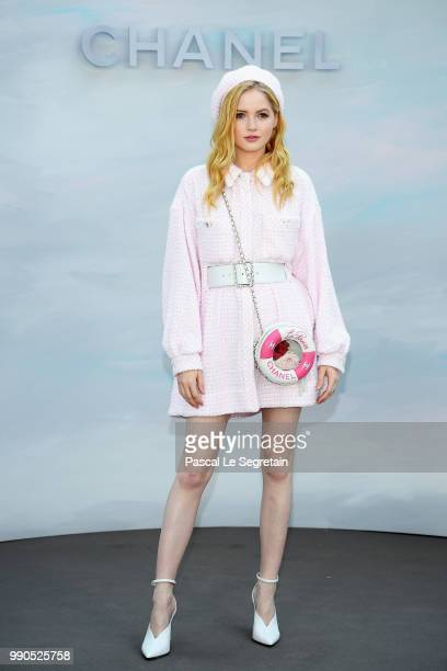 Ellie Bamber attends the Chanel Haute Couture Fall Winter 2018/2019 show as part of Paris Fashion Week on July 3 2018 in Paris France