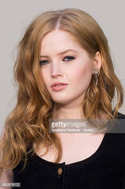 Ellie Bamber attends the Chanel Haute Couture Spring Summer 2017 show as part of Paris Fashion Week on January 24, 2017 in Paris, France.
