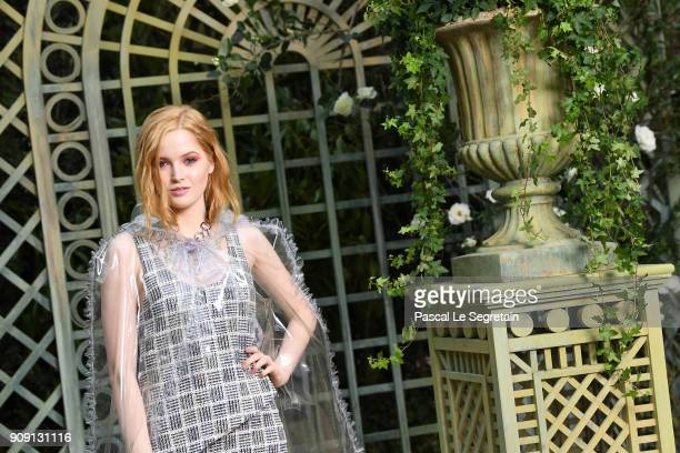 Ellie Bamber attends the Chanel Haute Couture Spring Summer 2018 show as part of Paris Fashion Week on January 23 2018 in Paris France