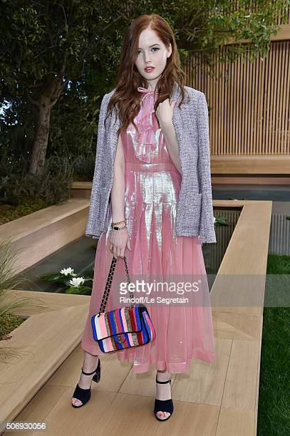 Ellie Bamber attends the Chanel Spring Summer 2016 show as part of Paris Fashion Week on January 26 2016 in Paris France