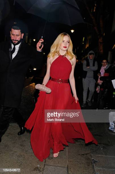 Ellie Bamber attends the dunhill PreBAFTA dinner at dunhill Bourdon House on February 6 2019 in London England