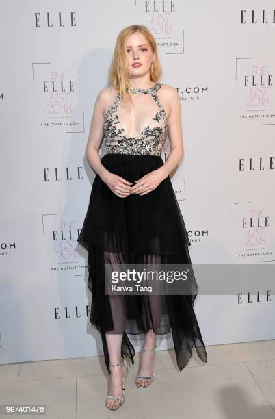 Ellie Bamber attends The ELLE List 2018 at Spring at Somerset House on June 4 2018 in London England