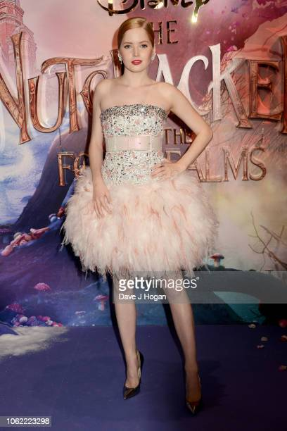 Ellie Bamber attends the European Gala Screening of Disney's 'The Nutcracker and The Four Realms' at Vue Westfield on November 01, 2018 in London,...
