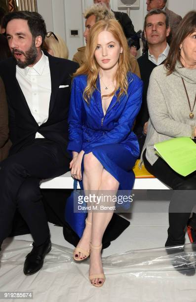 Ellie Bamber attends the Jasper Conran show during London Fashion Week February 2018 at Claridge's Hotel on February 17 2018 in London England