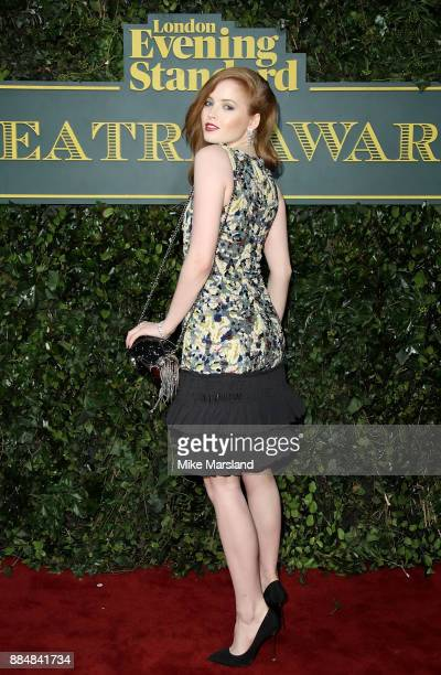 Ellie Bamber attends the London Evening Standard Theatre Awards at Theatre Royal on December 3 2017 in London England