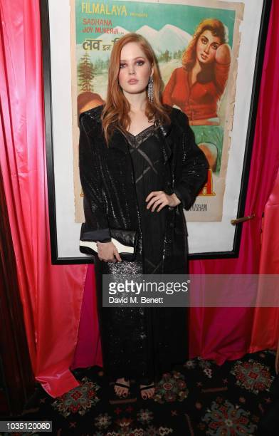 Ellie Bamber attends the LOVE Magazine 10th birthday party with PerrierJouet at Loulou's on September 17 2018 in London England