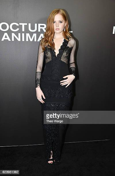 Ellie Bamber attends the 'Nocturnal Animals' premiere at The Paris Theatre on November 17 2016 in New York City