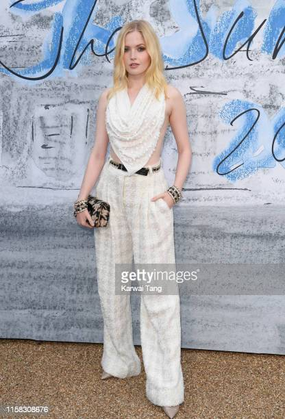 Ellie Bamber attends The Summer Party 2019 Presented By Serpentine Galleries And Chanel at The Serpentine Gallery on June 25 2019 in London England